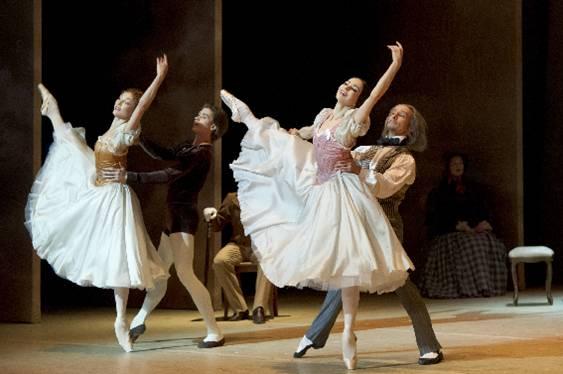 Два дуэта в балете «Утраченные иллюзии» Фото : Laurent Philippe / Opéra national de Paris