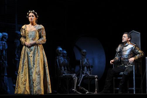 Франческа (Г.Гаскарова) и Малатеста (А.Виноградов) в первой картине