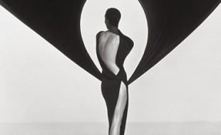 Herb Ritts Versace Dress (Back View), El Mirage, 1990