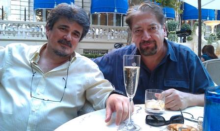 José Ramon et Rui Frati, comédien! metteur en scène, directeur du Théâtre de l'Opprimé