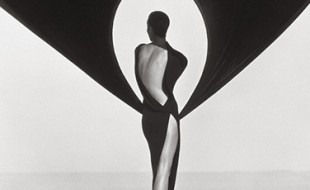 Herb Ritts Versace Dress (Back View), El Mirage, 1990